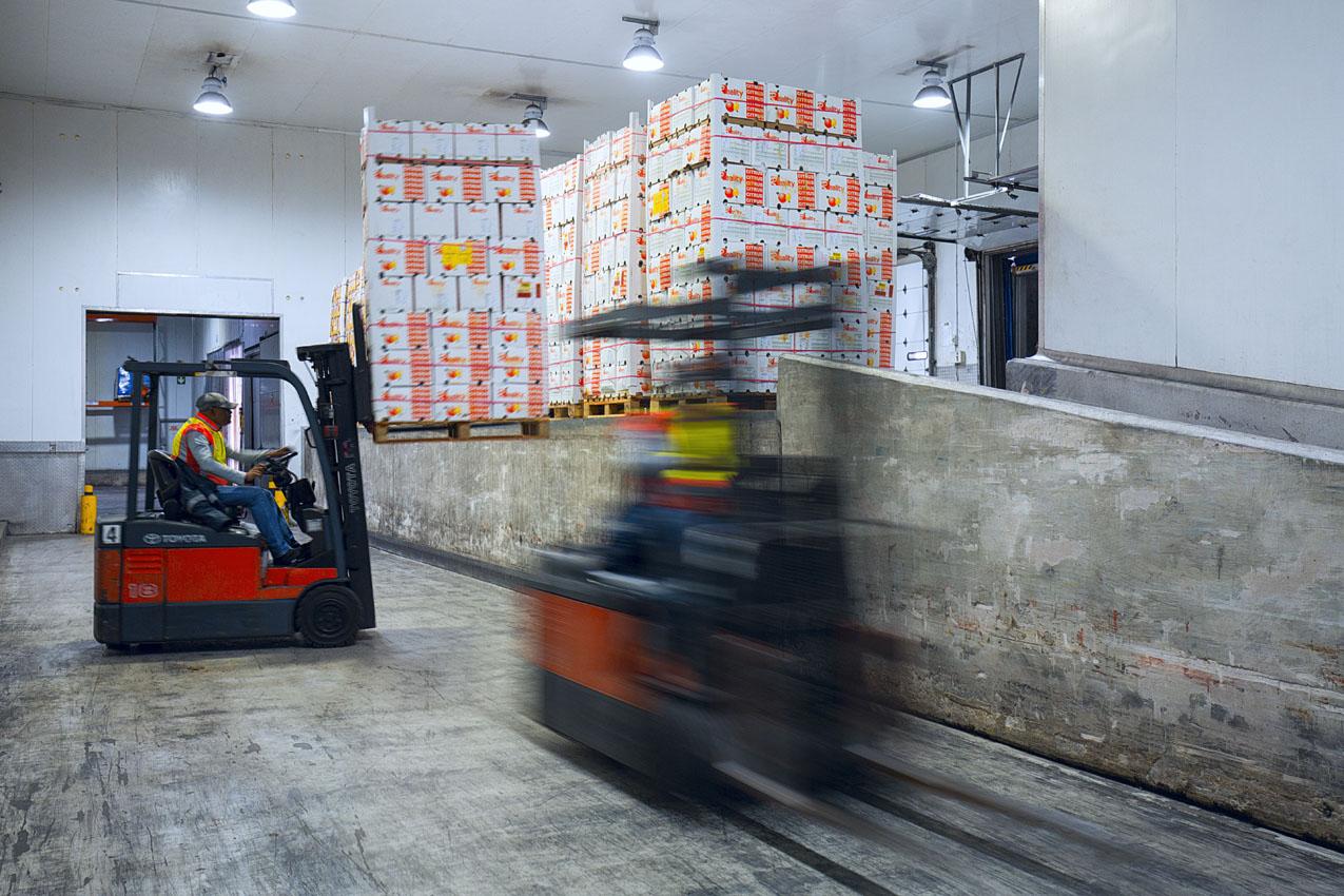 Forklifts blurred dispatch